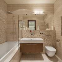 идея красивого стиля ванной комнаты в квартире картинка