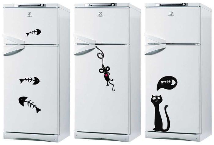 идея красивого декорирования холодильника