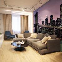 идея красивого декорирования интерьера гостиной картинка