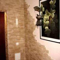 вариант красивого оформления углов в квартире фото