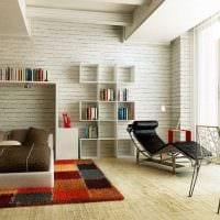 идея красивой декоративной штукатурки в интерьере квартиры фото