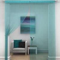 идея оригинальных декоративных штор в стиле комнаты фото
