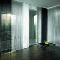 вариант необычных декоративных штор в интерьере квартиры фото