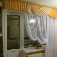 идея оригинальных декоративных штор в дизайне комнаты картинка