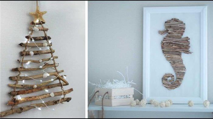 идея праздничного декорирования интерьера своими руками