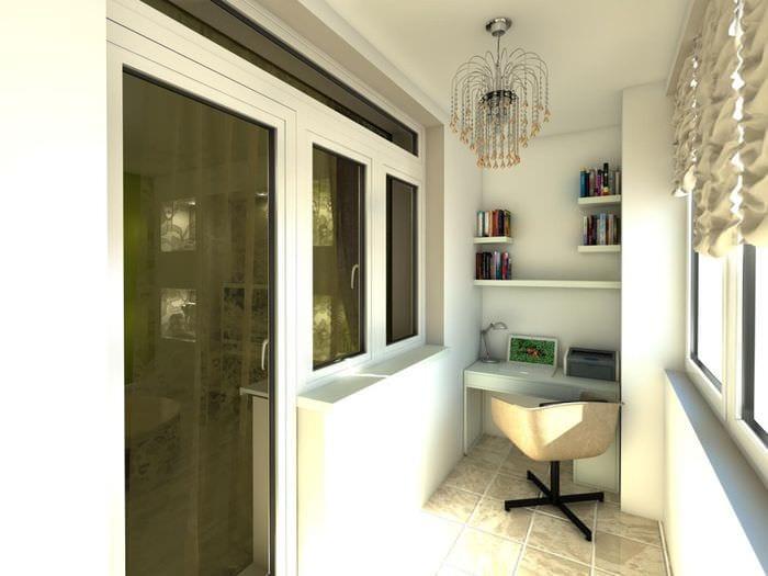 идея необычного декора маленького балкона