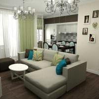 идея оригинального интерьера кухни 3-х комнатной квартиры фото