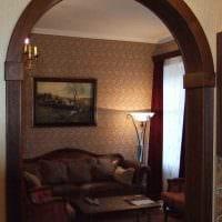 вариант красивого интерьера гостиной с аркой фото