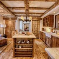 идея оригинального дизайна спальни в деревенском стиле фото