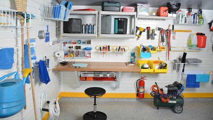 идея красивого оформления гаража