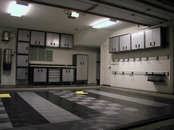 вариант яркого стиля гаража