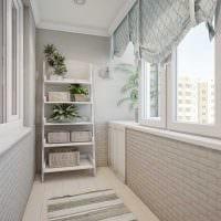 вариант красивого стиля маленького балкона фото