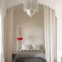 вариант необычного декорирования стиля спальной комнаты картинка