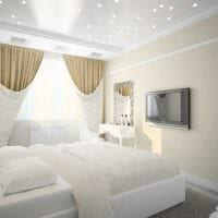 идея яркого декорирования стиля спальни фото