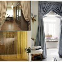 вариант оригинальных декоративных штор в дизайне комнаты картинка
