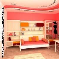 идея цветной интерьера спальни для девочки фото