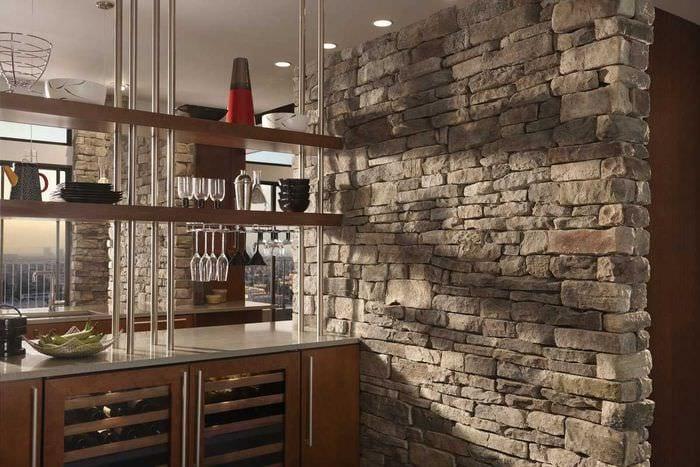идея красивого декоративного камня в стиле квартиры