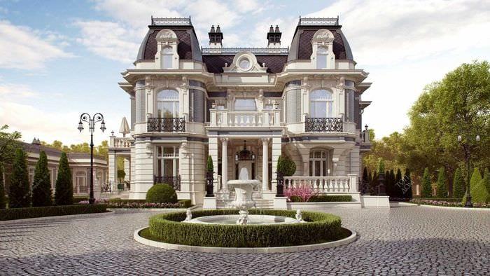идея яркого декора загородного дома