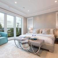 идея оригинального декорирования интерьера спальни картинка