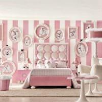 идея яркого декорирования интерьера спальни фото