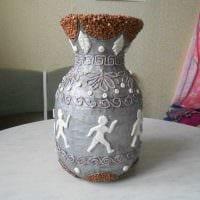 идея оригинального декорирования вазы фото