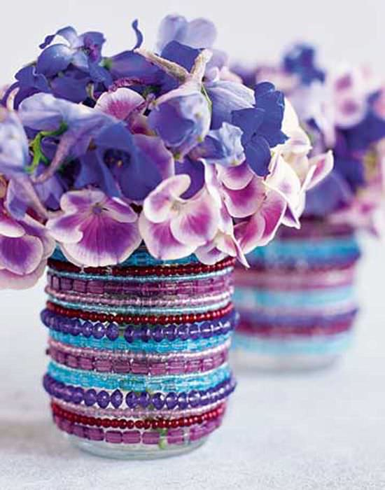 идея оригинального украшения вазы
