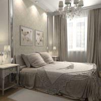 идея стильного декорирования дизайна спальни фото