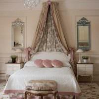 идея оригинального декорирования стиля спальни фото