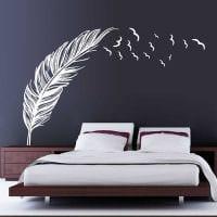 идея оригинального декорирования дизайна спальни фото