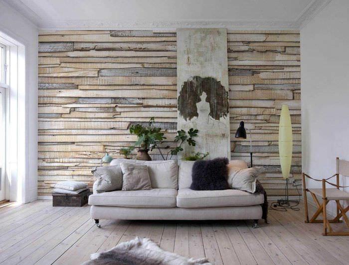 идея оригинального дерева в интерьере комнаты