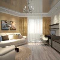 вариант необычного стиля 2 комнатной квартиры картинка
