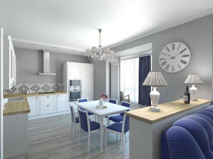 вариант необычного дизайна 2 комнатной квартиры