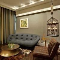 вариант оригинального интерьера комнаты с декоративной клеткой картинка