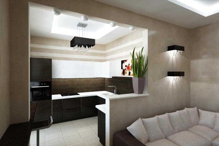 идея красивого стиля 2 комнатной квартиры