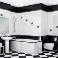вариант необычного стиля белой ванной картинка