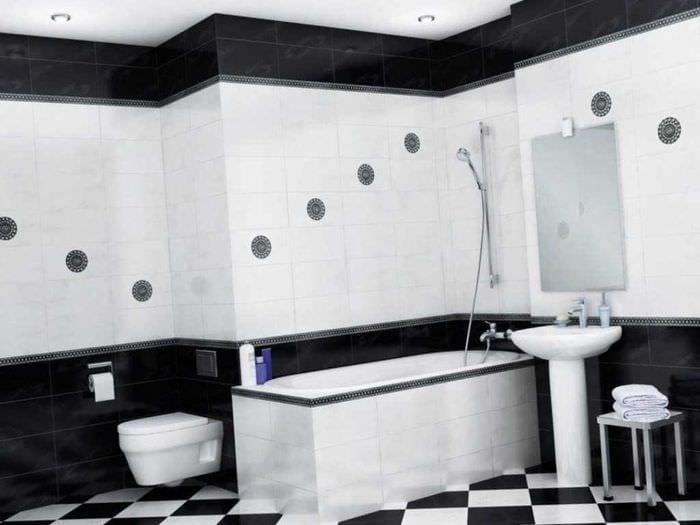 вариант необычного дизайна белой ванной комнаты