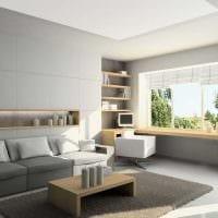 вариант оригинального оформления гостиной комнаты 17 кв.метров фото