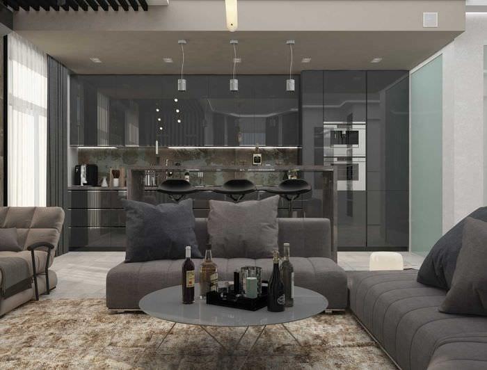 вариант яркого дизайна комнаты 2017 года