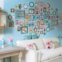вариант красивого оформления стен картинка