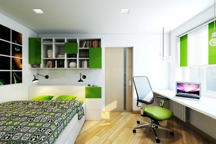 идея яркого дизайна 2 комнатной квартиры