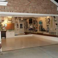 идея современного дизайна гаража фото