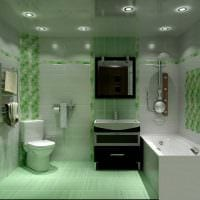 идея необычного интерьера ванной комнаты фото