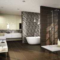 идея красивого интерьера ванной в квартире фото