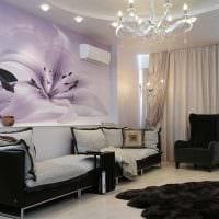 идея яркого оформления стен в гостиной фото