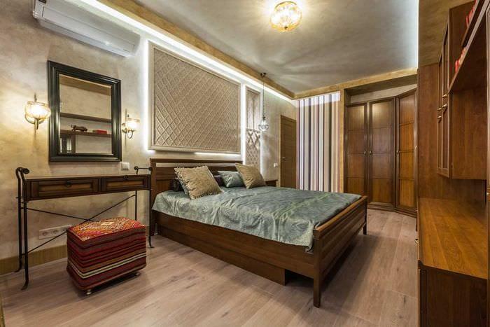 идея оригинальной декоративной штукатурки в дизайне квартиры