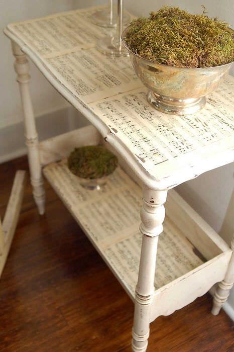 вариант состаривания мебели своими руками