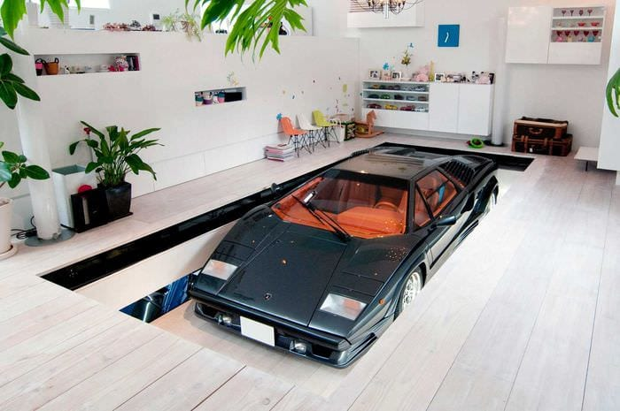 идея оригинального дизайна гаража