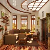 идея яркого оформления гостиной комнаты 17 кв.метров картинка