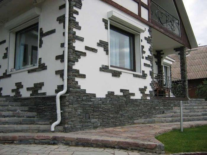 вариант оригинального фасада дома