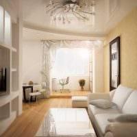 идея оригинального интерьера гостиной 3-х комнатной квартиры картинка